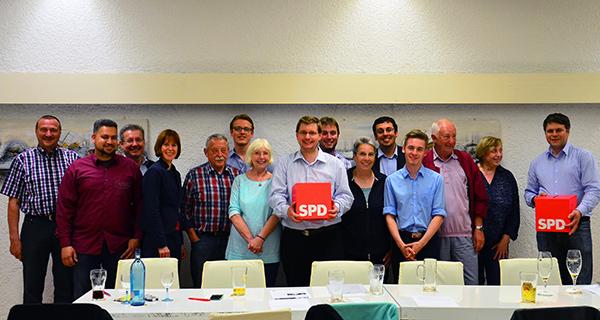 Der neu gewählte SPD Ortsvereinsvorstand
