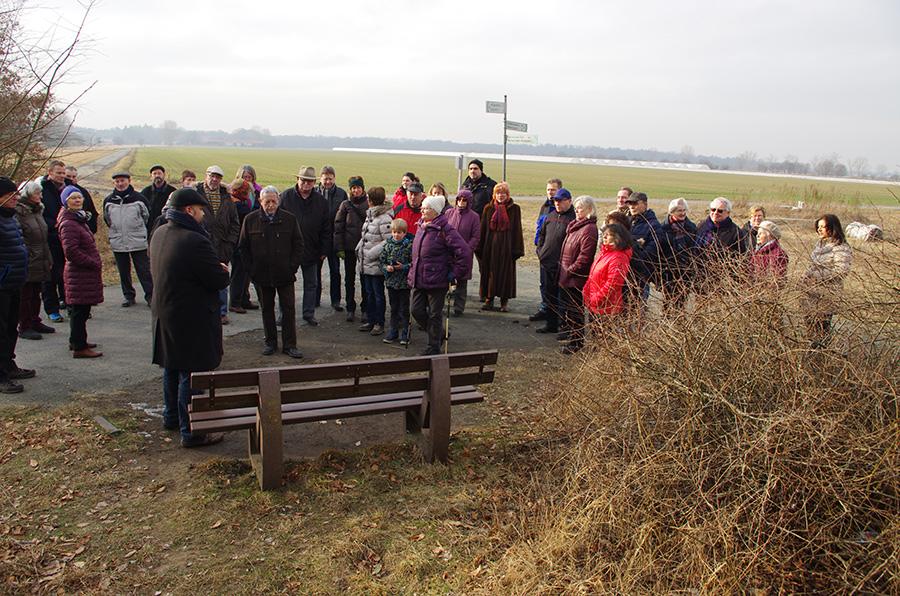 Winterspaziergang der Riedbahn SPD mit vielen Neuigkeiten
