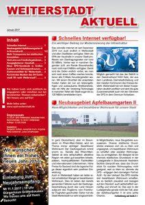Weiterstadt aktuell - Ausgabe Januar 2017 Titelbild