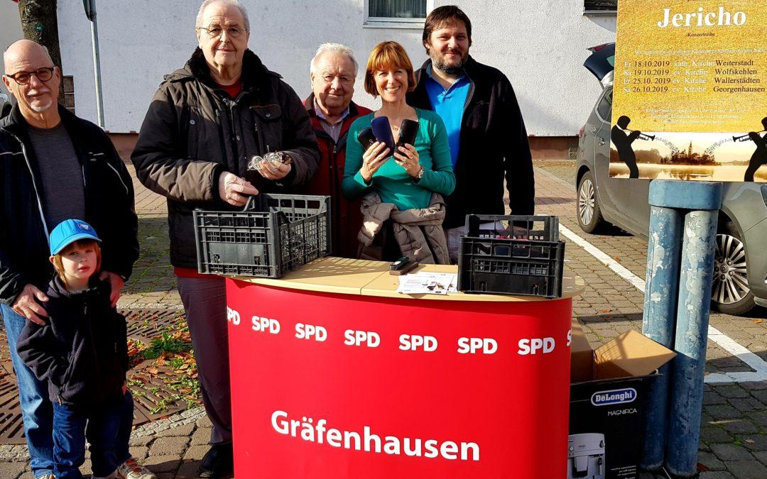 Brillensammelaktion von SPD-Ortsbezirk Gräfenhausen und AWO ist wieder ein voller Erfolg!
